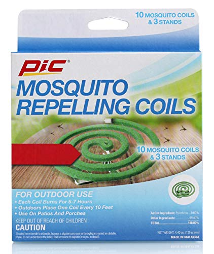 PIC Mosquito Repelling Coils, 10 Count Box, 4 Pack - Mosquito Repellent for Outdoor Spaces - 40 Coils Total