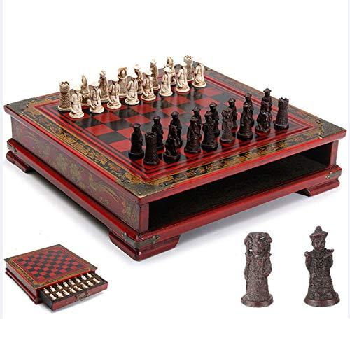 QIA 32pcs / Set clásica de Madera Mesa de ajedrez, Juegos d