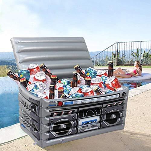 HUANGRONG 1Pc Gonfiabile del Dispositivo di Raffreddamento del PVC Radio Modello Ice Bucket Beach Party Piscina del Vino della Birra, Bevanda, Contenitore all'aperto di Accessori Anello per Nuoto