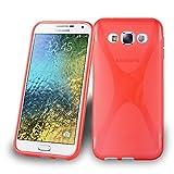 Cadorabo Hülle für Samsung Galaxy E5 in Inferno ROT –