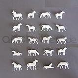 10 x Modell Pferde weiß für Bauernhof Modellbau 1:150 Modelleisenbahn Spur N -