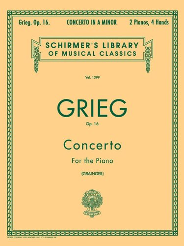 Concerto in A Minor, Op. 16: Schirmer Library of Classics Volume 1399 Piano Duet (Schirmer's Library of Musical Classics)