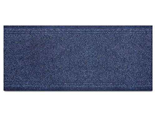 Schmutzfang-Läufer Sauberlauf Meterware MALAGA – Blau, 66 x 150 cm, Rutschfester, Robuster Küchenläufer, Küchenvorleger, Schmutzfangteppich, Gangläufer, Schmutzfangmatte