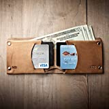 Mens Leather Wallet - Traditional (Made in USA by Mr. Lentz) 015