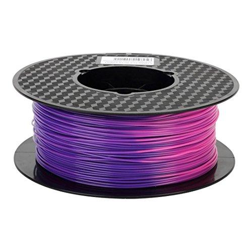 KEHUASHINA Filamento PLA 1,75 mm di diametro per stampante 3D - Cambio di colore per temperatura da blu porpora a rosa - Bobina da 1 kg (2,2 lb) - Accessori per stampanti 3D Accessori