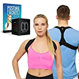 FMI Posture Corrector for Men and Women - Perfect for Posture Support, Back Support and Shoulder Brace - Supports Neck Pain Relief and Reduces Slouching - Adjustable Breathable Straps