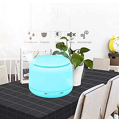 KBAYBO Essential Oil Diffuser 250ml Ultrasonic Aromatherapy Oil Diffuser with Adjustable Mist Mode Waterless Auto Shut-off and 7 Color Changing LED Lights Portable for Home Baby Office