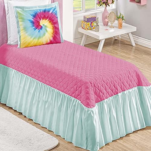 Cobre leito Solteiro Criança Alegra 2 Peças Pink Diversidade