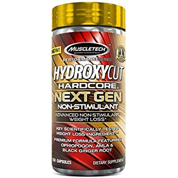 Weight Loss Pills for Women & Men | Hydroxycut Hardcore Next Gen Non-Stimulant | Weight Loss Supplement Pills | Metabolism Booster for Weight Loss | Ophiopogon, Amla & Black Ginger Root | 150 Pills