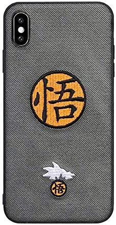 for iPhone 8 Plus Case for iPhone 7 Plus Cover Japan Anime Dragon Ball Super Son Goku 3D Embroidery product image