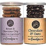 Hey Grain Cookies Home Combo-1 (Chocolate and Oats Cookies Besan & Chocolate Chips Cookies)