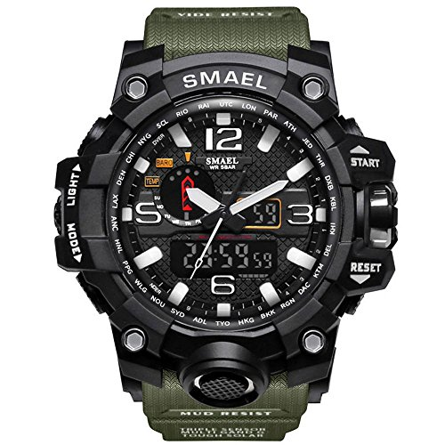 Relógio Smael Militar Masculino Prova D'água Esportivo S Shock Verde