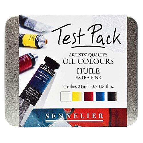 Sennelier Künstler Qualität Öl Farbe Lack Test Pack 5x 21ml