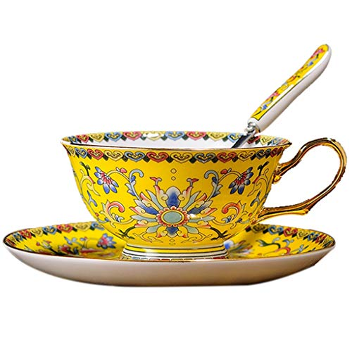 Lot de porcelaine blanche Tasse à café couleur or tasse en porcelaine os tasse de thé l'après-midi maison rouge tasse tasse en céramique petit déjeuner tasse tasse set plat tasse à café en porcelaine
