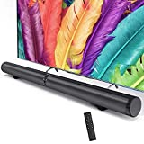 Vbestlife Barra de Sonido Inalámbrica Altavoz Bluetooth Equipo de Cine en Casa Envolvente Estéreo con Interfaz USB Admite AUX, Fibra, HDMI HD, 2 Lotus RCA(EU.pulg)