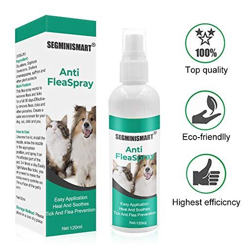 SEGMINISMART Pulgas Spray,Anti Pulgas,Flea Spray,Spray de