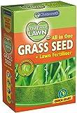 Premium Grass Seed & Lawn Fertiliser [Fast Growing UK Climate] (375G)