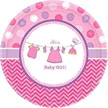 Amscan 541489 It's a Baby Girl   Round Plates 7