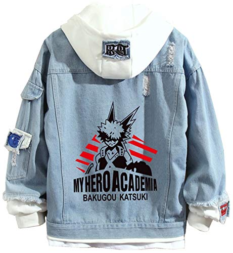 My Hero Academia Anime Denim Giacca Unisex Cartoni Animati Eroe Cosplay Jeans Cappotto Adolescenti Street Manga My Hero Academia Denim Felpa My Hero Academia - Giacca in denim 03 L