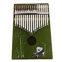 ピアノ10 || 17 || 21キーカリンバ、キャリーバッグ付きフィンガーピアノミュージックブックチューニングハンマーミュージカル、(18cm X 13cm) 17 tone panda A