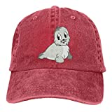 Hoswee Casquette de Baseball Chapeau Cute Baby Seal Adult Custom Cowboy Outdoor Sports Hat Casquette de baseball Ajustable
