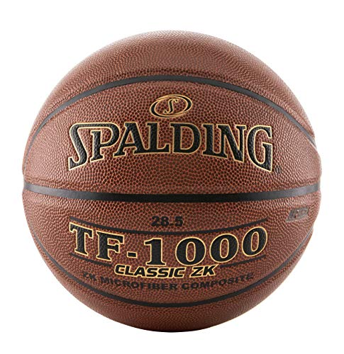 Spalding TF-1000 Classic ZK Indoor Spiel Basketball, Unisex, TF-1000, 74-783A, braun, Official Size and Weight: Size 7, 29.5