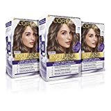 L´ORÉAL PARIS Pack 3x Excellence Cool Creme Tinte Permanente Triple Cuidado Efecto Anti-Anaranjado Tono 7.11 Rubio Ceniza Intenso