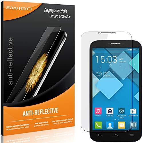 SWIDO Schutzfolie für Alcatel One Touch Pop C9 [2 Stück] Anti-Reflex MATT Entspiegelnd, Hoher Festigkeitgrad, Schutz vor Kratzer/Folie, Bildschirmschutz, Bildschirmschutzfolie, Panzerglas-Folie