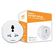 Helea 10A Wi-Fi Smart Plug, For Low Power Appliances (Mobile & Laptop Chargers, TV, Kettle, etc.), Works with Alexa & Google Assistant