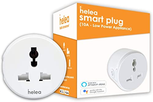 Helea 10A Wi Fi Smart Plug for Low Power Appliances Type D Compatible with Alexa Google Assistant