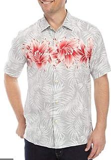Tommy Bahama ハイビスカス ロウ リネン キャンプシャツ