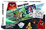 Diakakis 0504803Puzzle para Colorear (2Caras, con 3Posters–Angry Birds–24Piezas–41x 28cm