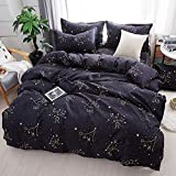 Mysterious Zodiac Duvet Cover Set, Comforter Set Luxury Soft Bedding, Space Theme Kids