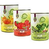 DOGREFORM Gemüse pur 4 x 3 grün rot,gelb Jetzt als Sparpaket Ideal zum BARF en als Diätfutter für Hunde 100% hochwertiges Gemüse Frei von Getreide Fleisch Soja Haltbarkeitsstoffen Zusatzstoffen