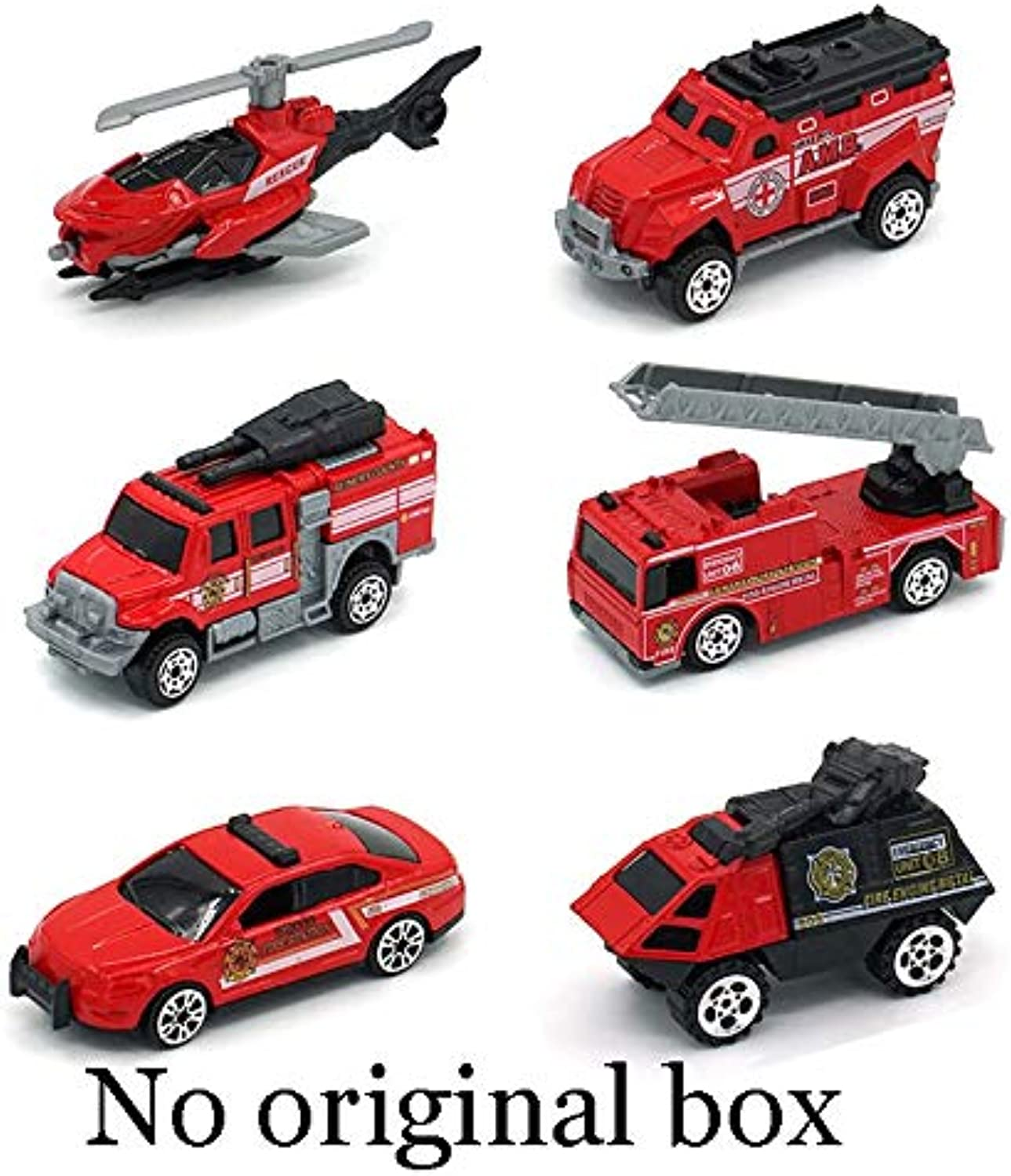 Generic 6PCS lot Mini Diecast Construction Vehicle 7 Styles Model Metal Toys Cars Tractor Toy Dump Truck Model Alloy Toy Car Style4 Foam Box
