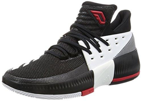 adidas D Lillard 3 Herren Basketball-Schuhe, Schwarz – (Negbas/Neguti/FTWBLA), Herren, D Lillard 3, Schwarz/Weiß/Rot
