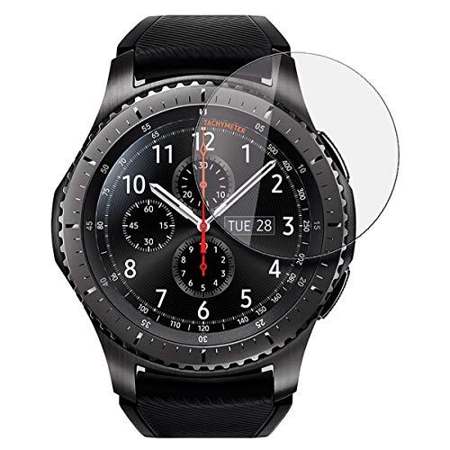 disGuard Schutzfolie für Samsung Gear S3 Frontier [2 Stück] Entspiegelnde Bildschirmschutzfolie, MATT, Glasfolie, Panzerglas-Folie, Bildschirmschutz, Hoher Festigkeitgrad, Glasschutz, Anti-Reflex