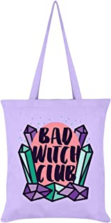 Pastel Goth Bad Witch Club Tote Bag Lilac 38 x 42cm
