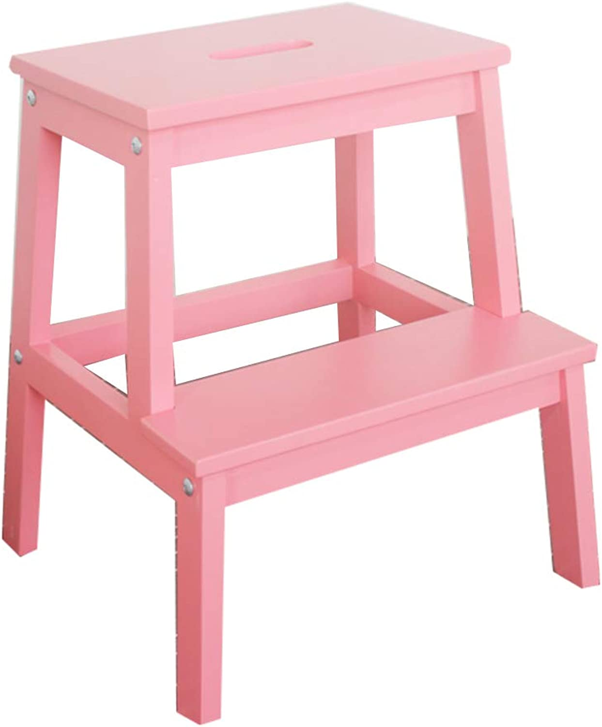 Ladders Attic Ladders Step Stool Stair Chair Solid Wood Step Stool Home Multi-function Chair Stool Change shoes Bench Indoor Attic Step Stool Two-step Step Ladder Load Capacity 150kg Ladders Attic Ladd