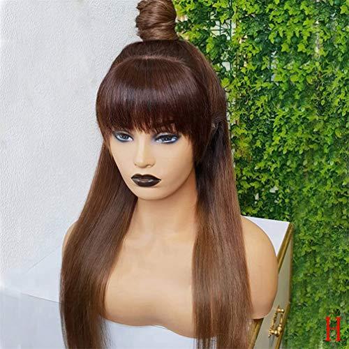 Lace Front Perücke, Brasilianisch Mit Pony Lace Front Menschliche Perücke Ombre Honigblondes Haar 360 Lace Front Perücke 180 Dichte,22 inches