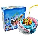 Funmix Juego de Mesa de Pesca,Juego de Mesa de Pesca con mordedura de tiburón,Pesca Antes del Juego De Mordedura De Tiburón,Juegos Interactivos De Escritorio Play House Tricky Toys