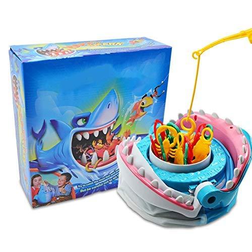 Angeln Brettspiel,Haifisch-Biss-Spiel Eltern-Kind-Interactive Toy Angelspiel Fisch Angeln Spielzeug pädagogischen Spielzeug Family Party-Spiel-Geschenk for Kinder