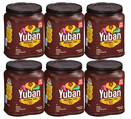Yuban Traditional Medium Roast Ground Coffee, Caffeinated, 42.5 oz Jug (Pack of 6)
