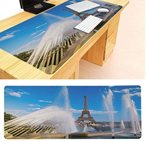 Mauspad Rutschfester Pc Eiffelturm In Der Nacht Paris Frankreich Keyboard Gaming Mousepads Größe Für 30X90Cm 40X90Cm Gummi-Mousepads