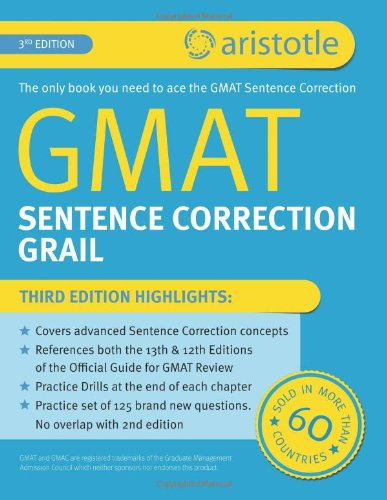 Download GMAT Sentence Correction Grail: 3rd Edition 
