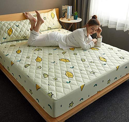 Antibacteriano Funda de Colchón,Colchón de cama, almohadilla suave y gruesa, protector de colchón impermeable acolchado, cubierta de estilo de sábana ajustable para cama Comfort-D_120x200cm+30cm