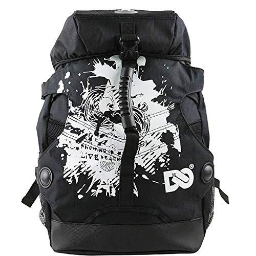 RJHY Rollschuh-Rucksack, wasserdichte Rollschuh-Tasche im Freien Rucksack-Rochen-Rollschuh-Erwachsene Männer und Frauen-Tarnungs-Tasche,Graffitiblack