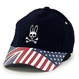 (サイコバニー) Psycho Bunny キャップ CAP ユニオンジャック フラッグ 秋冬 L 紺