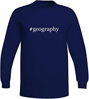 The Town Butler #Geography - A Soft & Comfortable Hashtag Men's Long Sleeve T-Shirt