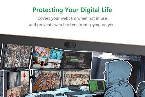 CloudValley Camera Slide Cover, 0.66mm Metall (5er-Pack) für MacBook Pro, HP, Laptop, Mac, iPad, Computer, Tablet PC, Schwarze Webcam-Abdeckung, Datenschutz